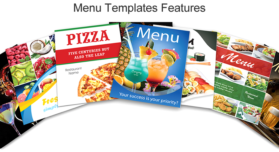 Menu Templates Features